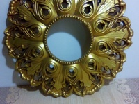Elegant golden clock frame