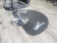 Styling saloon chair or barbering chair with anti fatigue mat