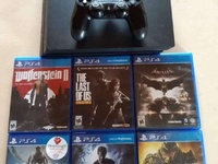 PS4 with games and all accessories