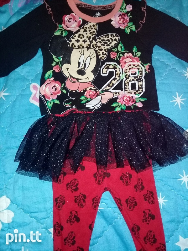 BABY HATS AND DINSEY MINNIE SUIT PANTS AND TOP-6