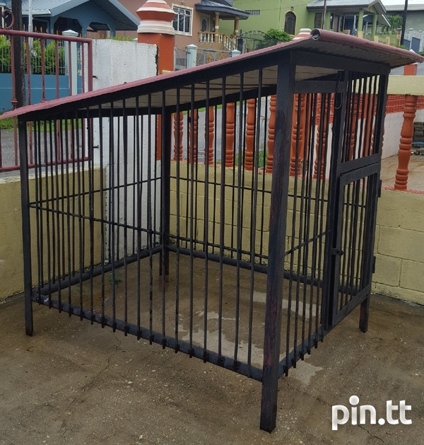 Solid steel dog kennel...-2