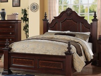 Charlotte King Bed in Cherry Finish
