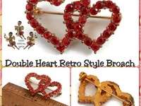 Double Heart Broaches