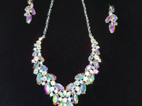 Iridescent Statement Necklace and Earrings