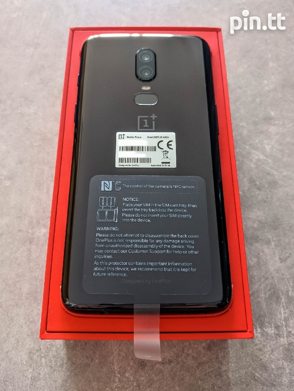 One Plus 6 Dual Sim 128GB+8GB Ram Like New Full Package Combo-1