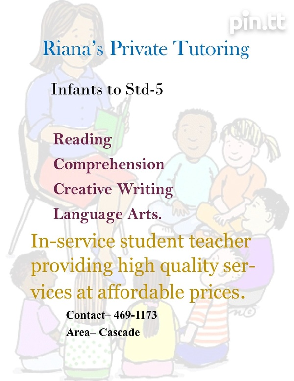 Lessons/ Private tutoring. 2 days a week.