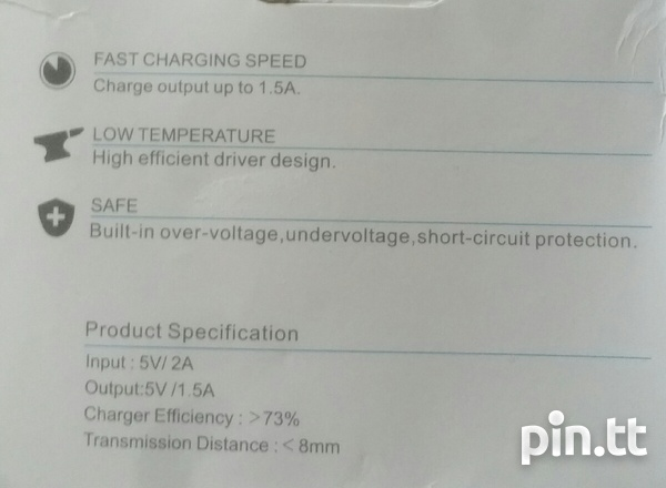 Fast Wireless Charger for Samsung phone, Qi Standard up to 1.5A-4