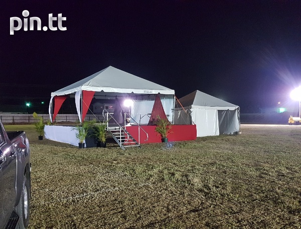 Tent, scaffolding, chairs, tables, bouncy castle, face painting, etc-1