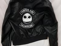 Nightmare before Christmas Pumpkin King leather biker jacket
