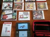 Nintendo 3DS XL and 14 games