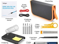 Anbes Soldering Iron Kit Electronics, 60W Adjustable Temperature Weld