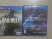 PS4 cod infinite warfare , star wars battle front 2