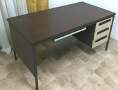 Desk with 3 Drawers and Keyboard Tray