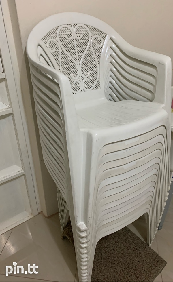Plastic Chairs In Good Condition-3
