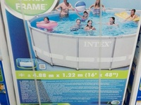 15ft round swimming pool with sand filter and all accessories.