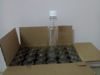 New boxes and plastic bottles