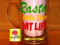Personalized Glass Mugs For Father's day/Birthdays/Gifts/Business