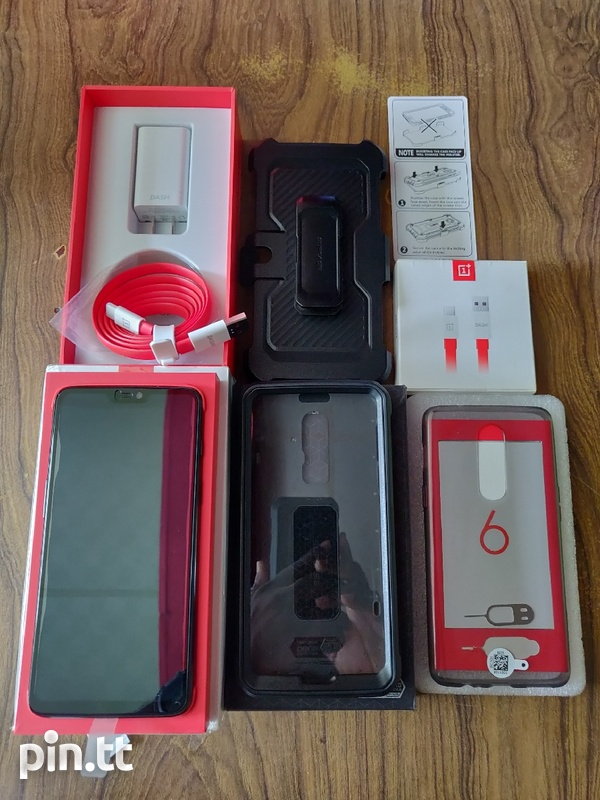 One Plus 6 Dual Sim 128GB+8GB Ram Like New Full Package Combo-6