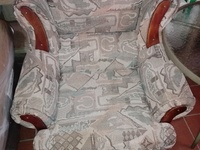 Used patterned single seater