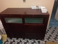 Computer chair and credenza
