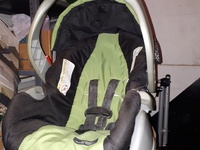 Infant seat with base
