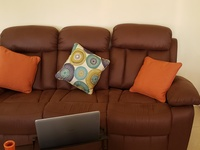 Gently used 3 pc recliner couch set