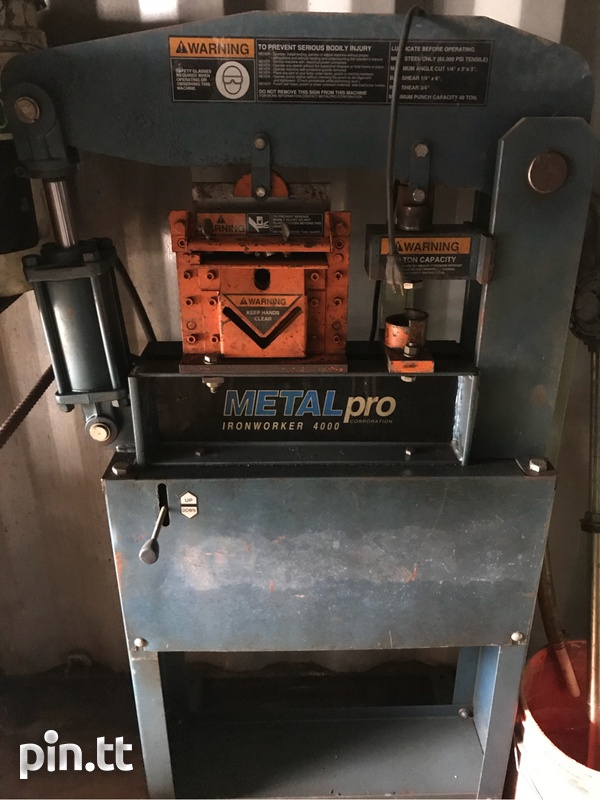 Metal pro punch and shear iron worker-1