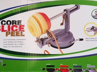 Peeler core slicer