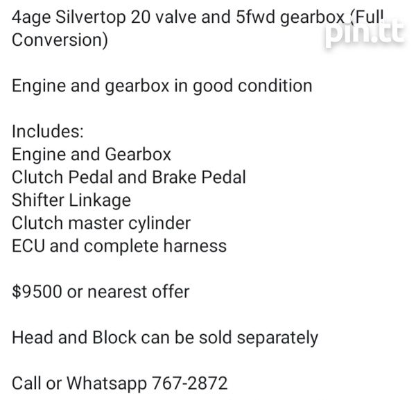 4age 20 valve Silvertop and 5fwd Gearbox-2