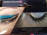 Beautiful lashes with adhesive