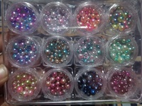 12 colours round marble pearl beads.