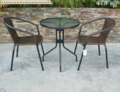 Two piece brown patio set