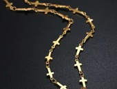 Cross necklace and earring set