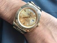 Rolex Day-Date 40 Champagne Roman Dial 18K Yellow Gold President