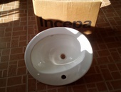 Two face basin with tap new brand