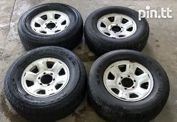 Pick up rims and tyres-1
