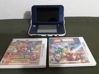 3DS XL with 2 games