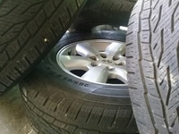 17inch Hilux rims and continental tyres