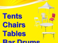 Tents, chairs, tables, bouncy castles and more for all your events