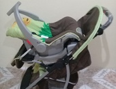 Car seat and stroller.