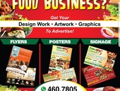 Graphic Work for Food Businesses.