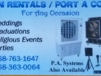 Fan Rentals- Port A Cool..