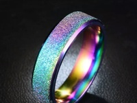 Frosted Stainless Steel rings