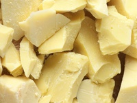 REAL AUTHENTIC NATURAL PRESSED COCOA BUTTER. FOOD GRADE