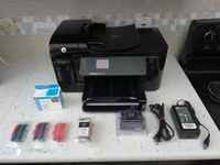 HP Officejet 6500A Plus printer with new printhead and cartridges