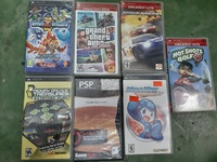PSP game console with 9 games and PSP charger