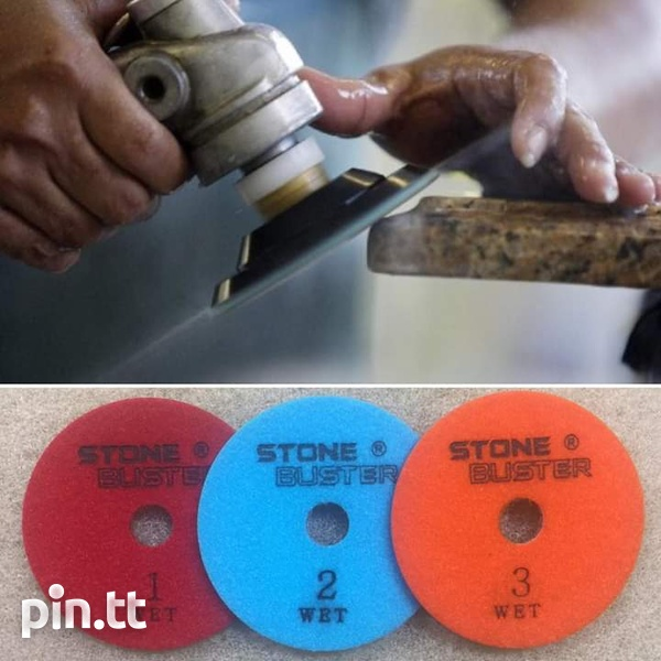 Granite and quartz 3 step polishing pads-1