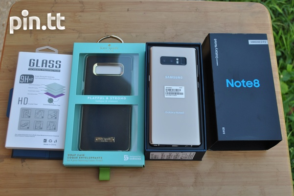 New Samsung Note 8 with Kate spade case, tempred glass and 96GB space-2
