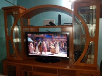 Entertainment Center with 2 pcs free furniture