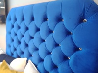 Royal Blue Velvet Headboard